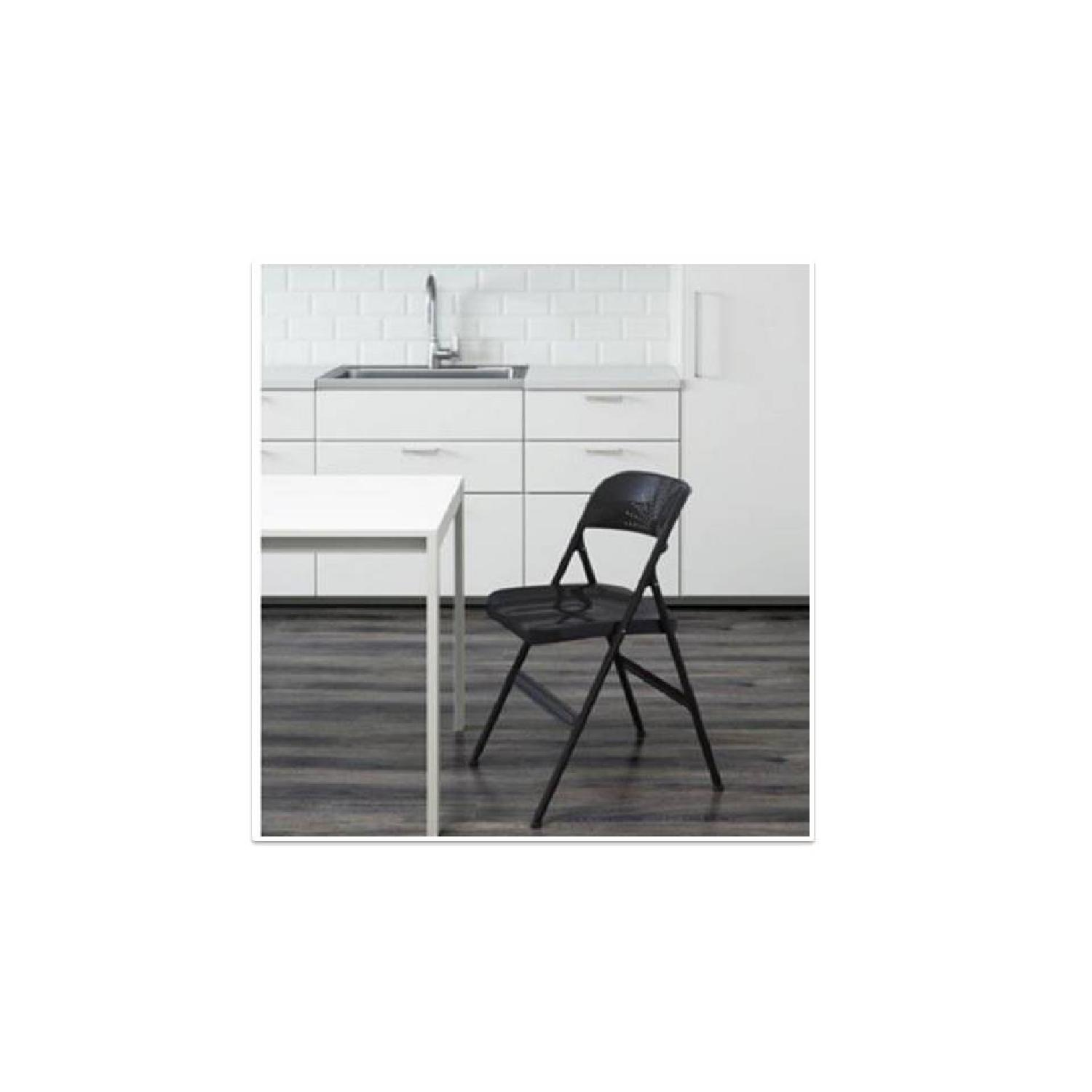 Folding Chair in Dark Grey & Turquoise - image-4