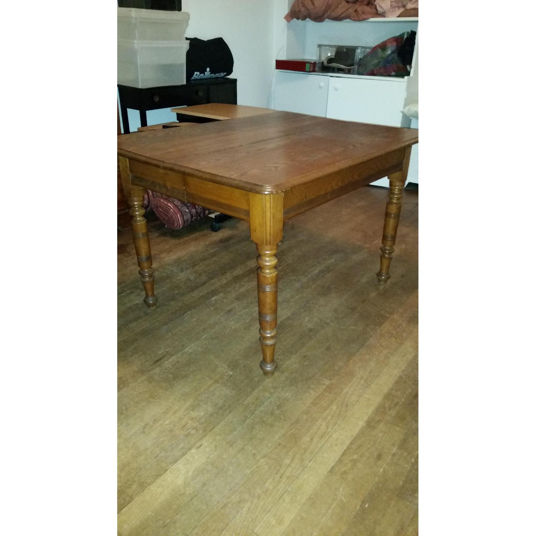 Antique Tiger Oak Dining Table - image-1