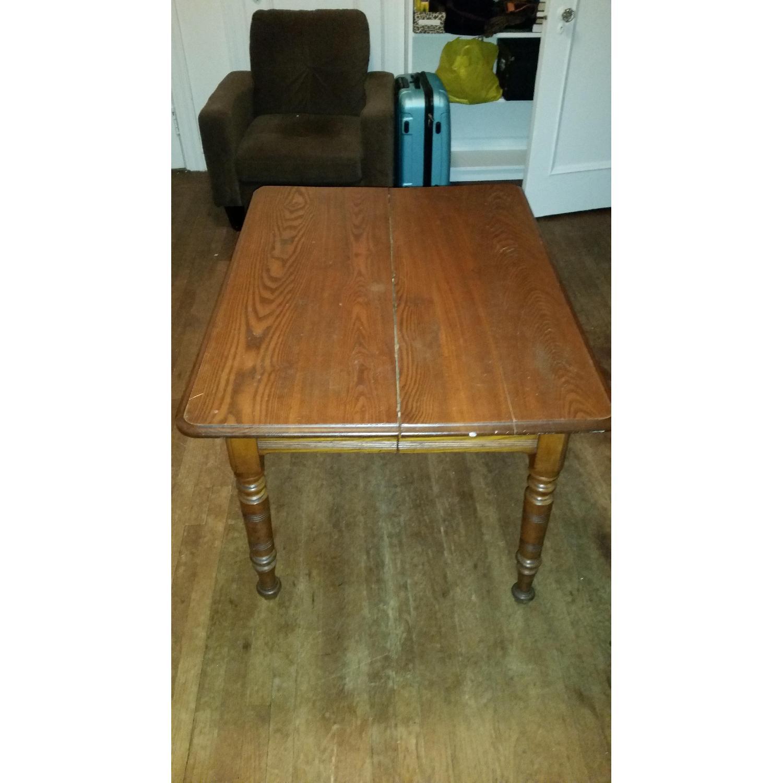 Antique Tiger Oak Dining Table - image-2