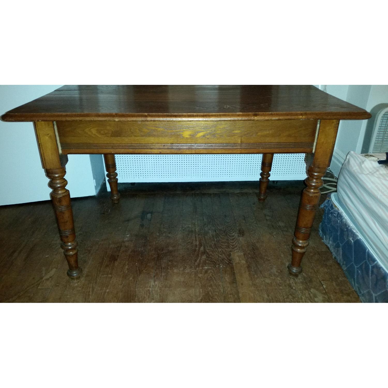 Antique Tiger Oak Dining Table - image-5