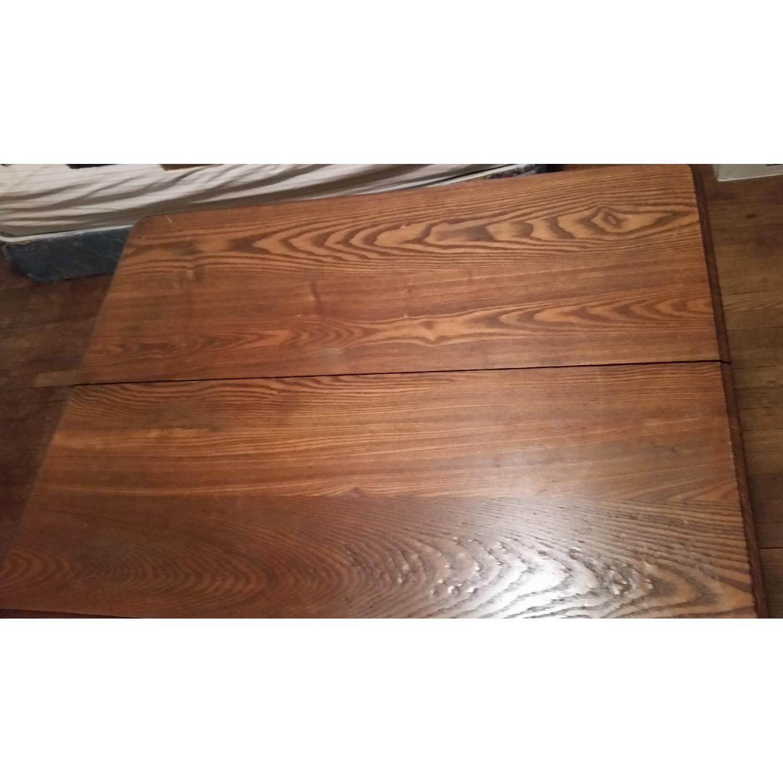 Antique Tiger Oak Dining Table - image-6
