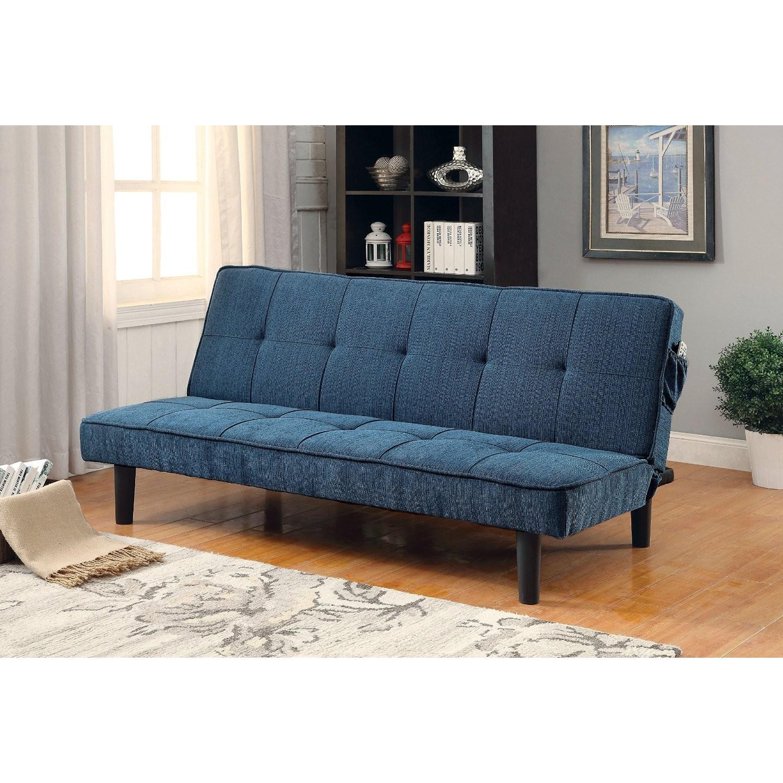 Furniture of America Teal Futon - image-1