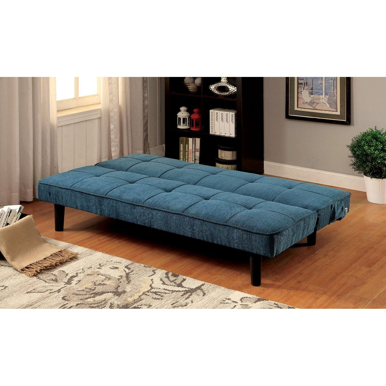 Furniture of America Teal Futon - image-2