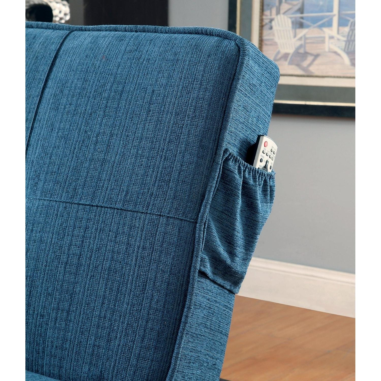 Furniture of America Teal Futon - image-3