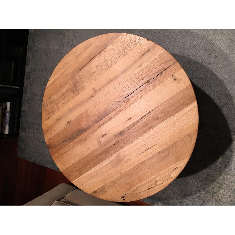 Restoration Hardware Watts Reclaimed Oak Round Coffee Table - image-3