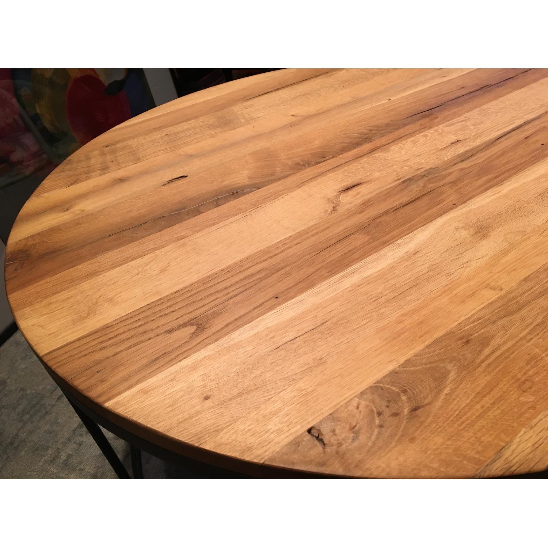 Restoration Hardware Watts Reclaimed Oak Round Coffee Table - image-4