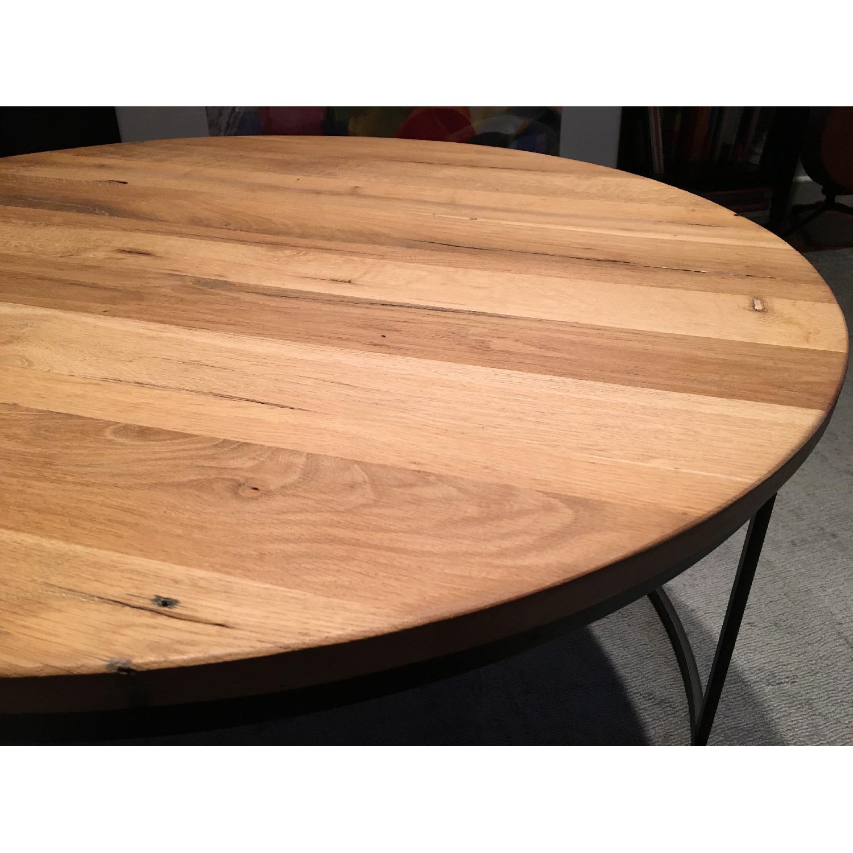 Restoration Hardware Watts Reclaimed Oak Round Coffee Table - image-5
