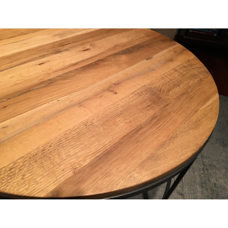 Restoration Hardware Watts Reclaimed Oak Round Coffee Table - image-6