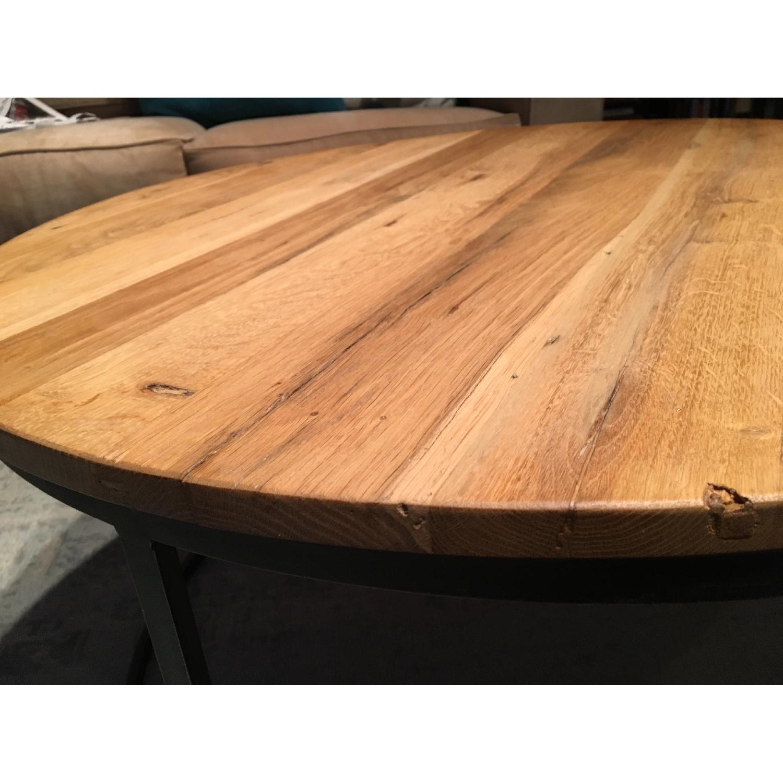 Restoration Hardware Watts Reclaimed Oak Round Coffee Table - image-8