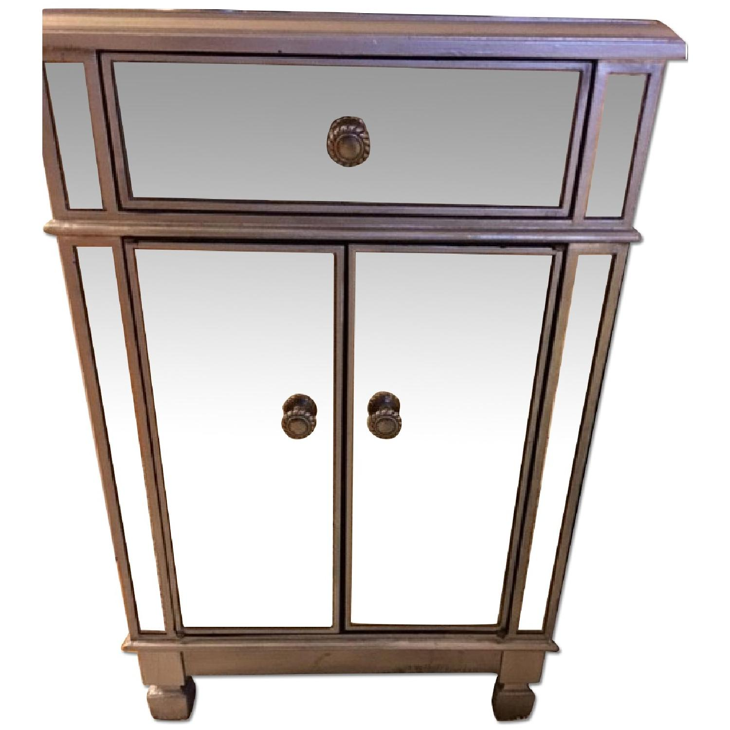 Pier 1 Hayworth Mirrored Bedside Chest in Silver - image-0