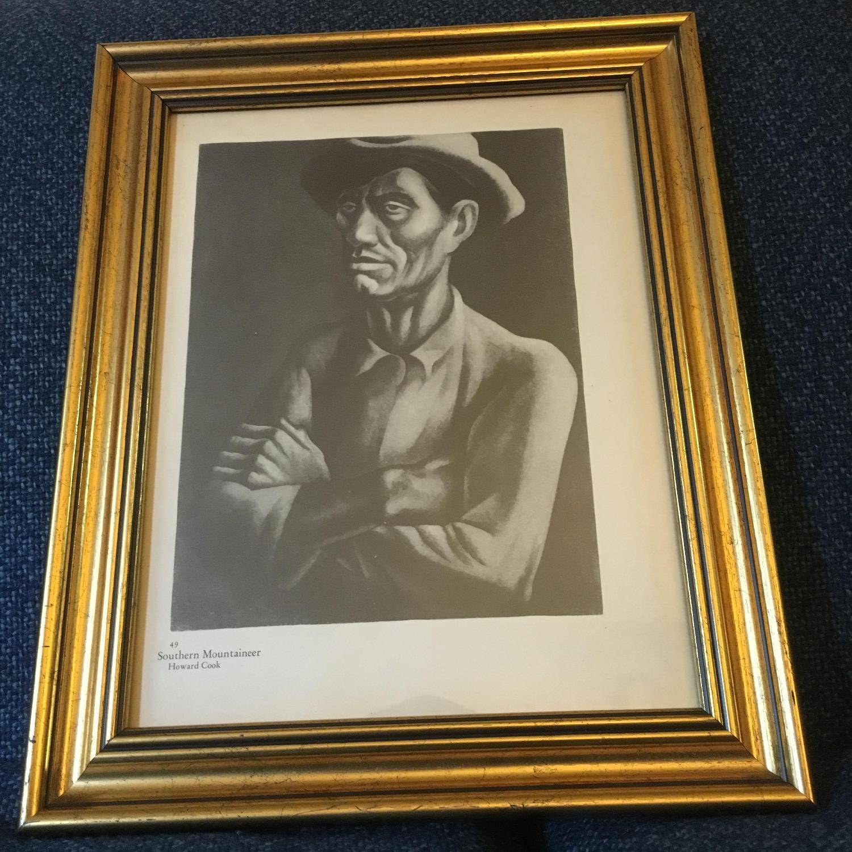 Vintage Howard Cook Print - Southern Mountaineer - image-3