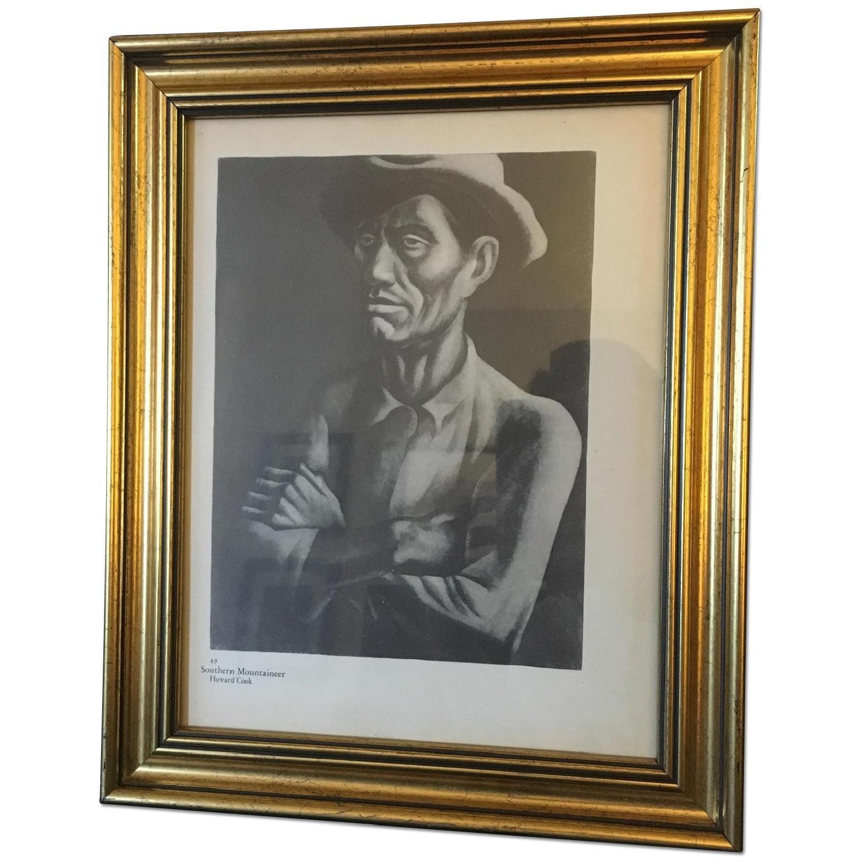 Vintage Howard Cook Print - Southern Mountaineer - image-0