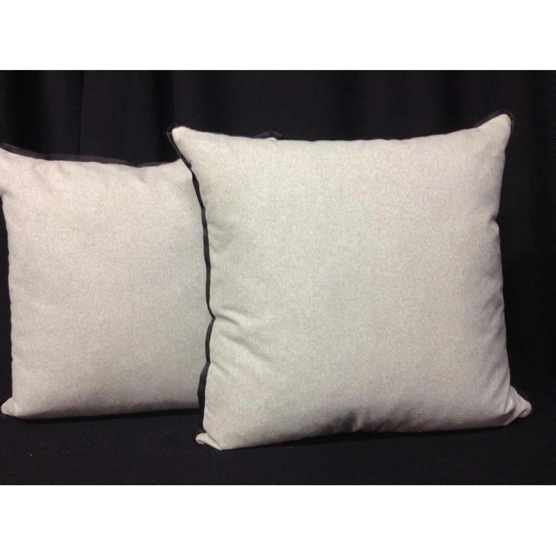 Vintage Fabric Decorative Custom Pillows - Pair - image-1