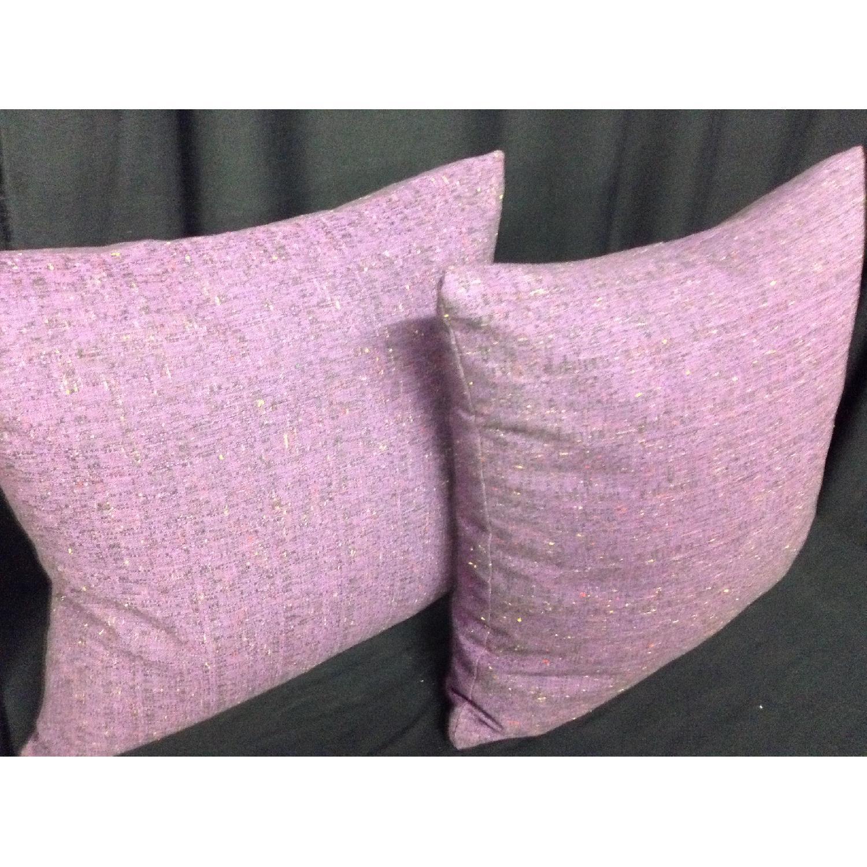 Fabric Lavender Linen Decorative Pillows - Pair - image-3