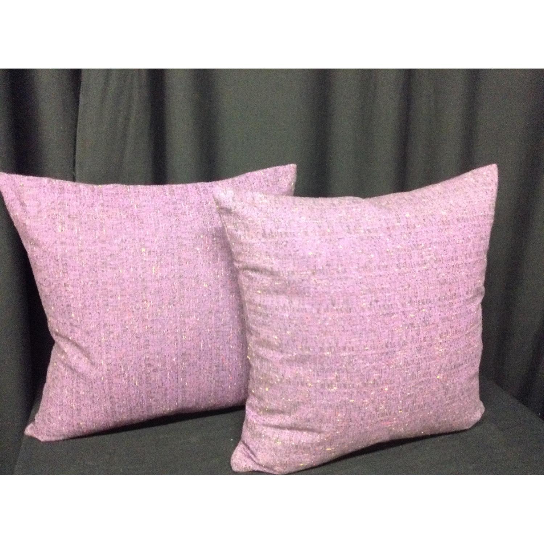 Fabric Lavender Linen Decorative Pillows - Pair - image-4
