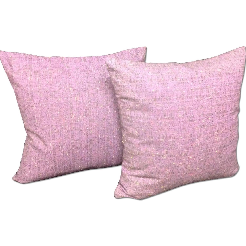 Fabric Lavender Linen Decorative Pillows - Pair - image-0