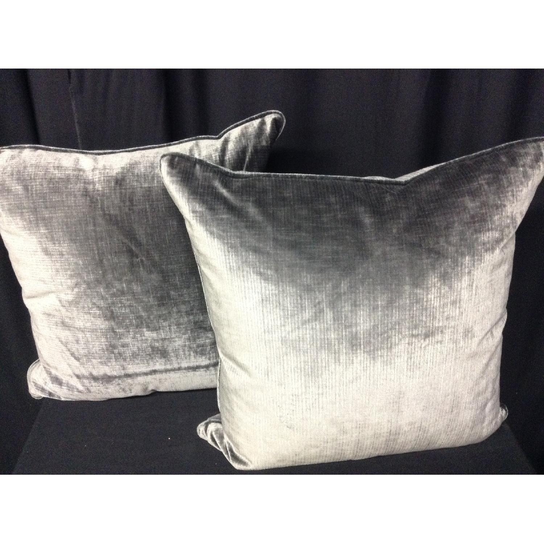 Brussels Velvet Fabric Decorative Pillows - Pair - image-1
