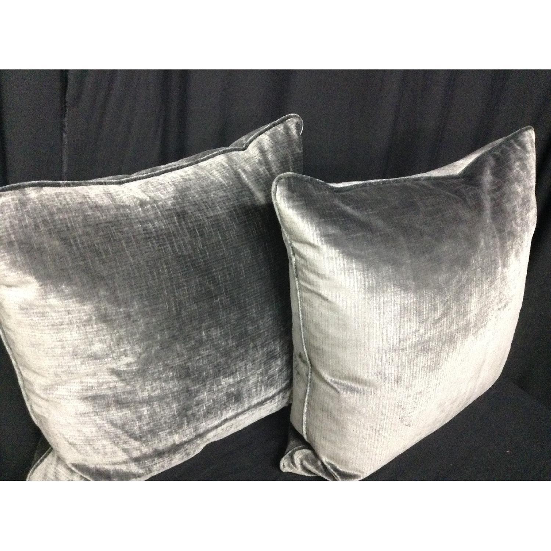 Brussels Velvet Fabric Decorative Pillows - Pair - image-3