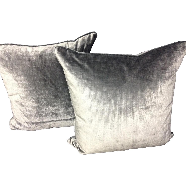 Brussels Velvet Fabric Decorative Pillows - Pair - image-0
