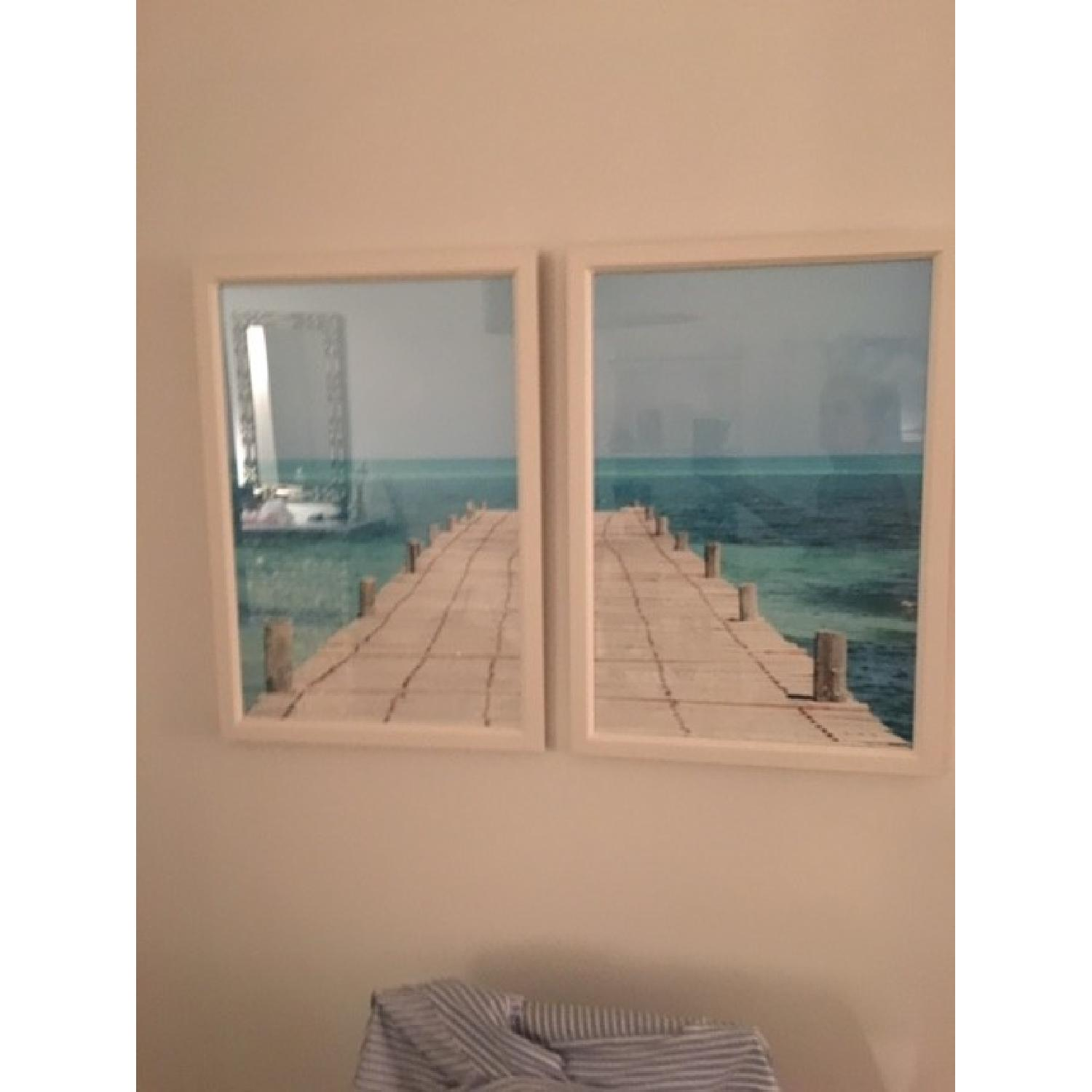 Twin Pictures of a Dock and a Bay - image-1