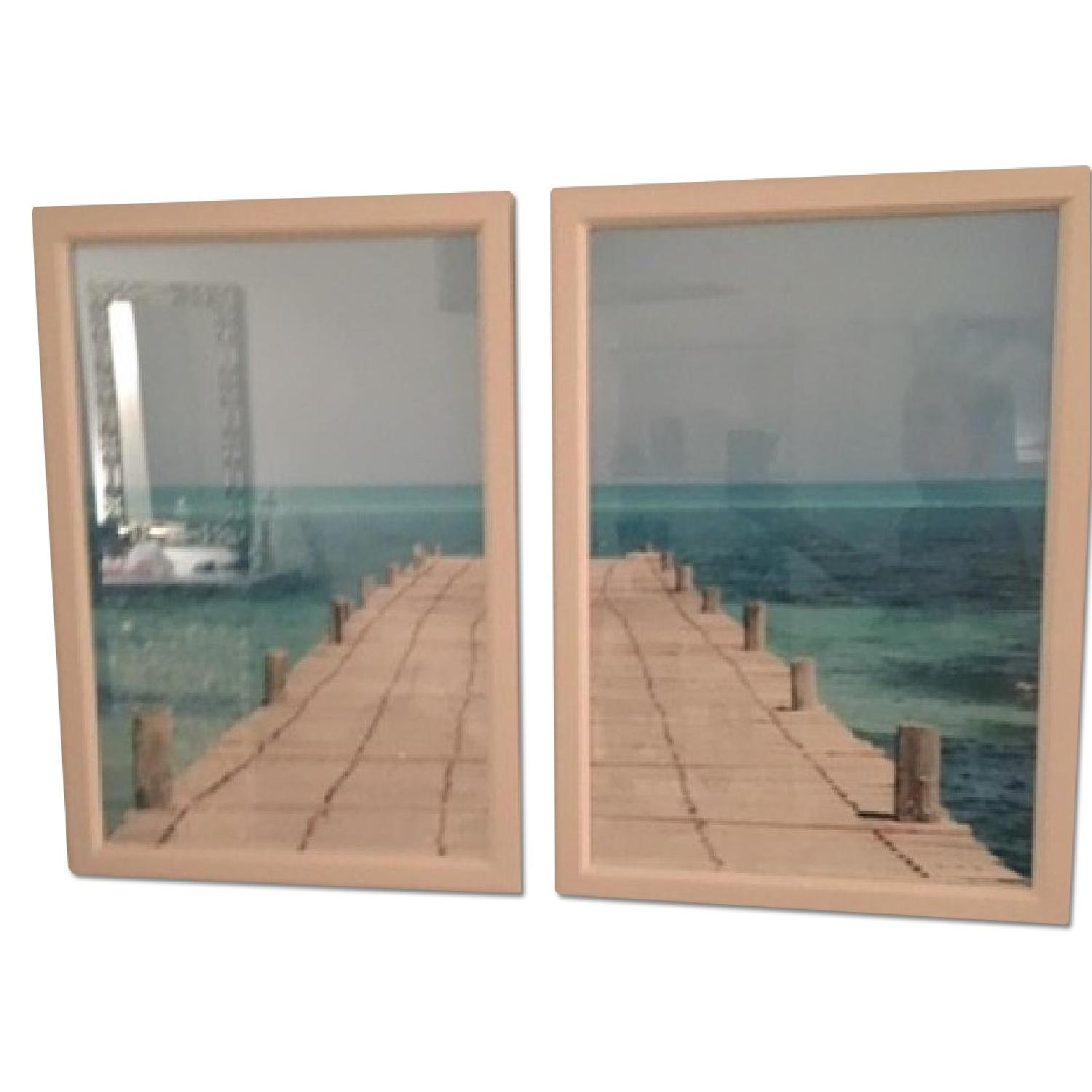 Twin Pictures of a Dock and a Bay - image-0