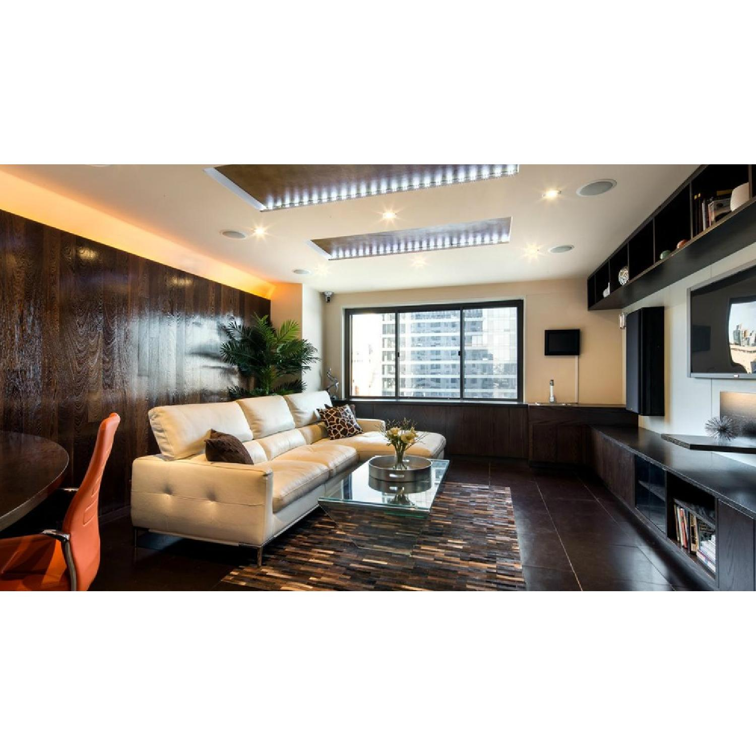 White Leather Sectional - image-1