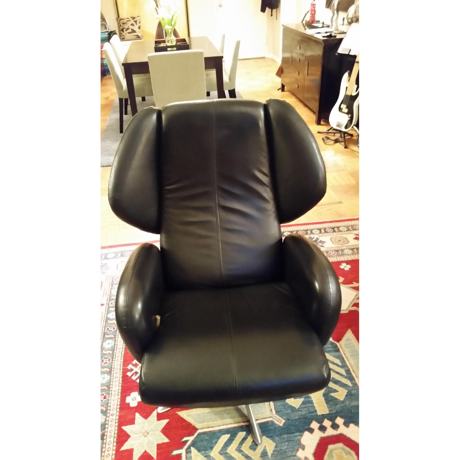 Lee's Art Shop Leather Reading Chair - image-1
