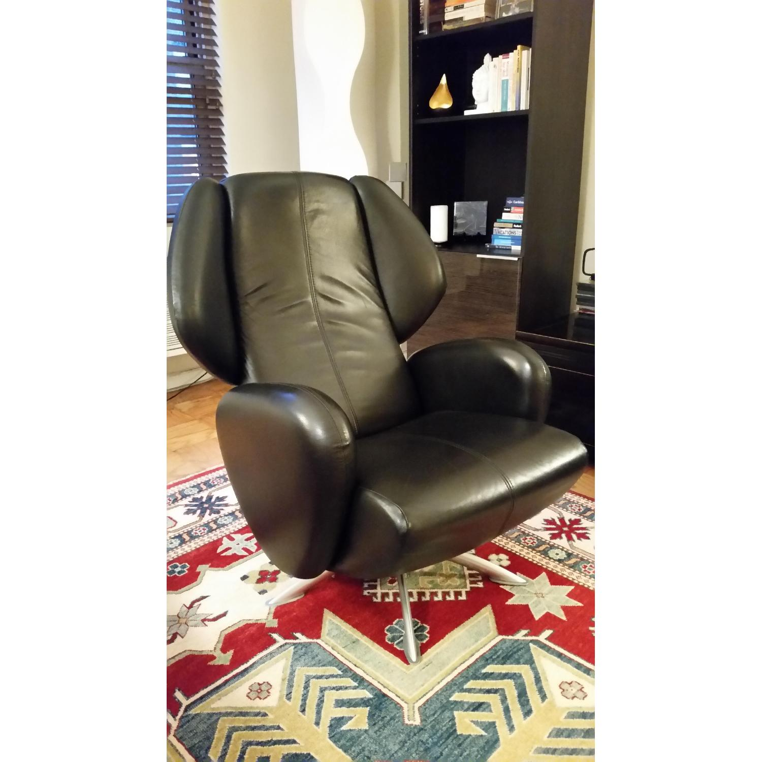 Lee's Art Shop Leather Reading Chair - image-2
