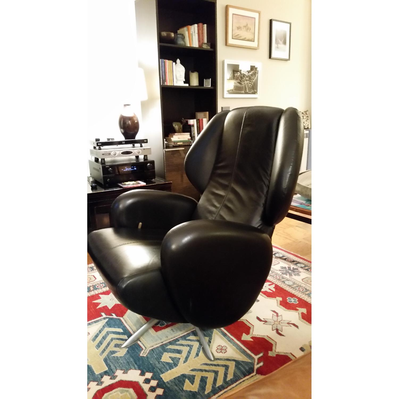 Lee s Art Shop Leather Reading Chair AptDeco
