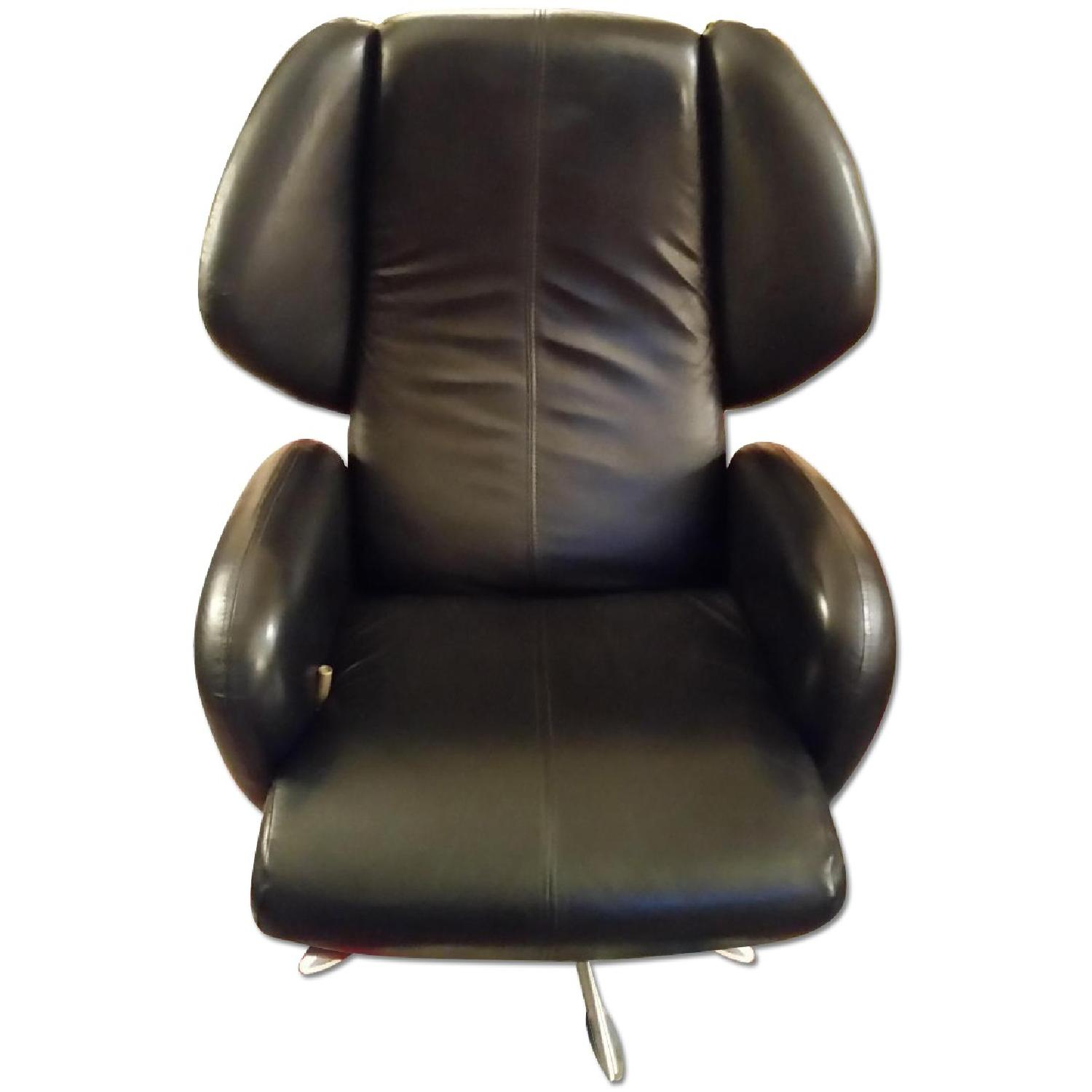Lee's Art Shop Leather Reading Chair - image-0