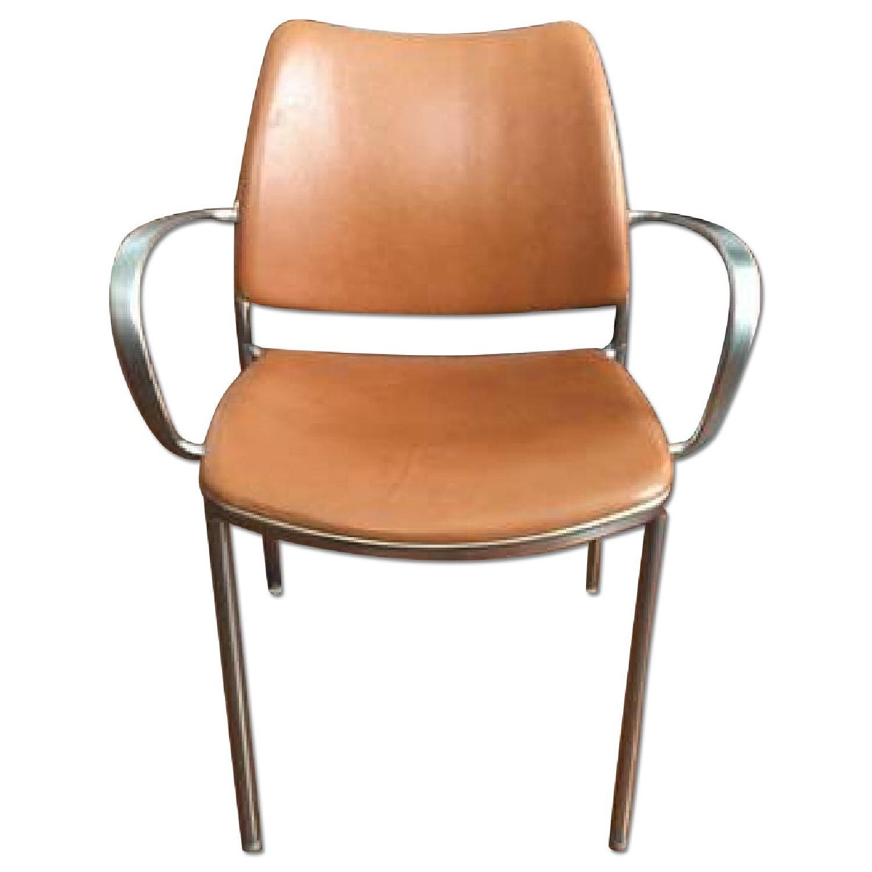 Design Within Reach Jesus Gasca Gas Cognac Leather Armchair - image-0