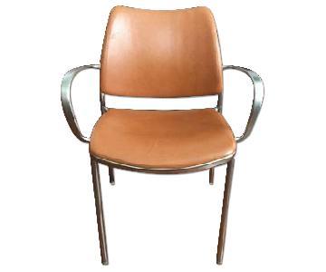 Design Within Reach Jesus Gasca Gas Cognac Leather Armchair