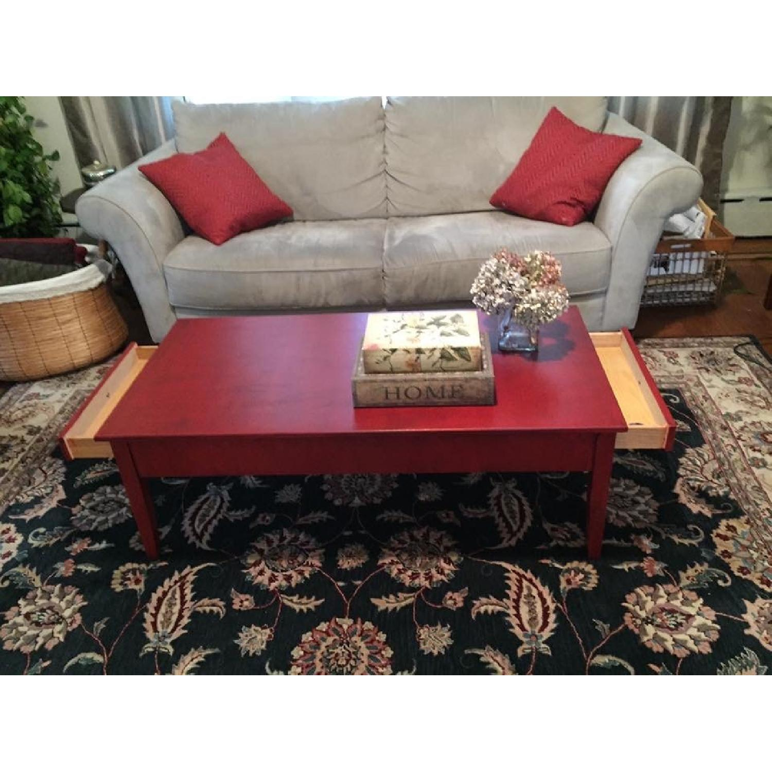 Transitional Painted Coffee Table - image-1