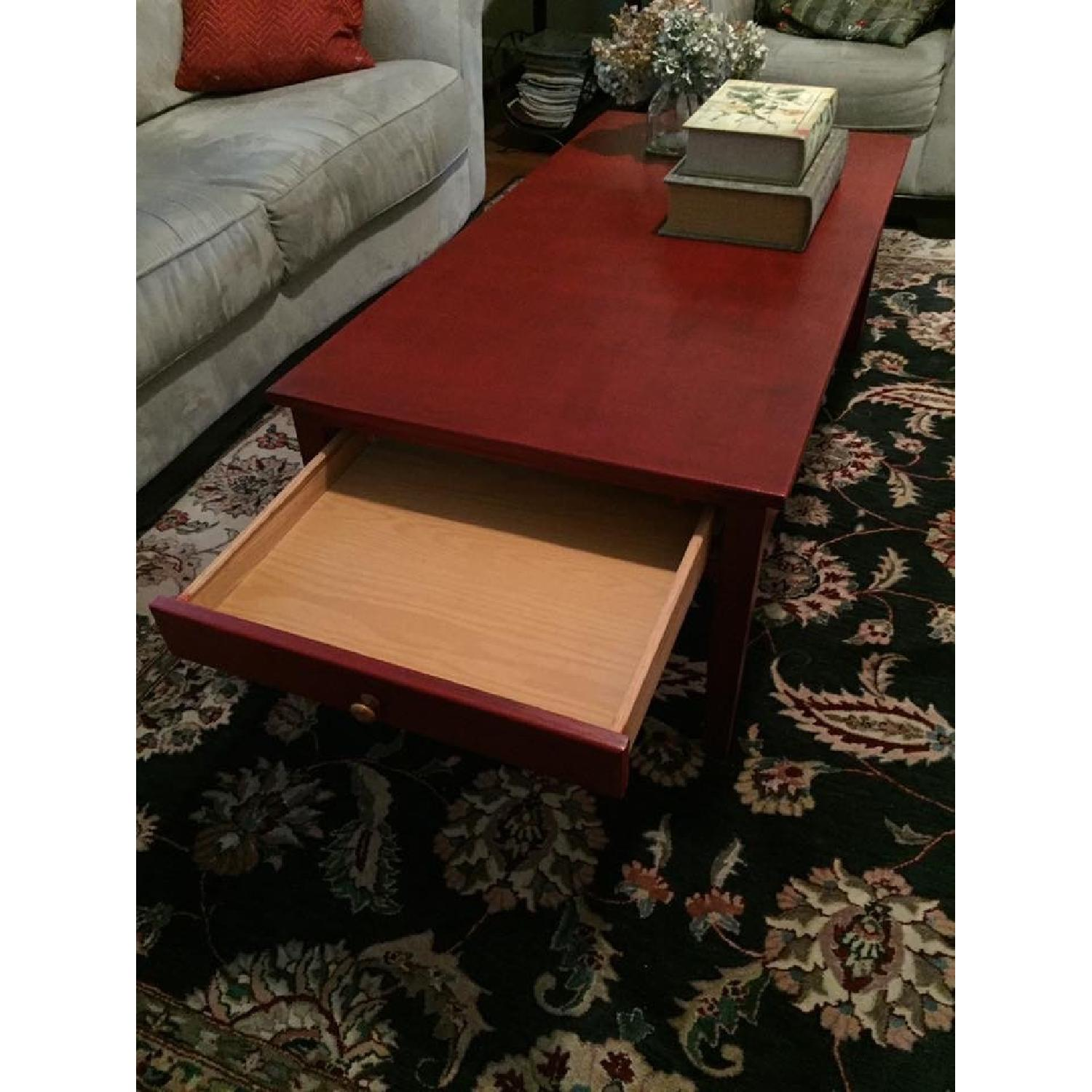 Transitional Painted Coffee Table - image-2