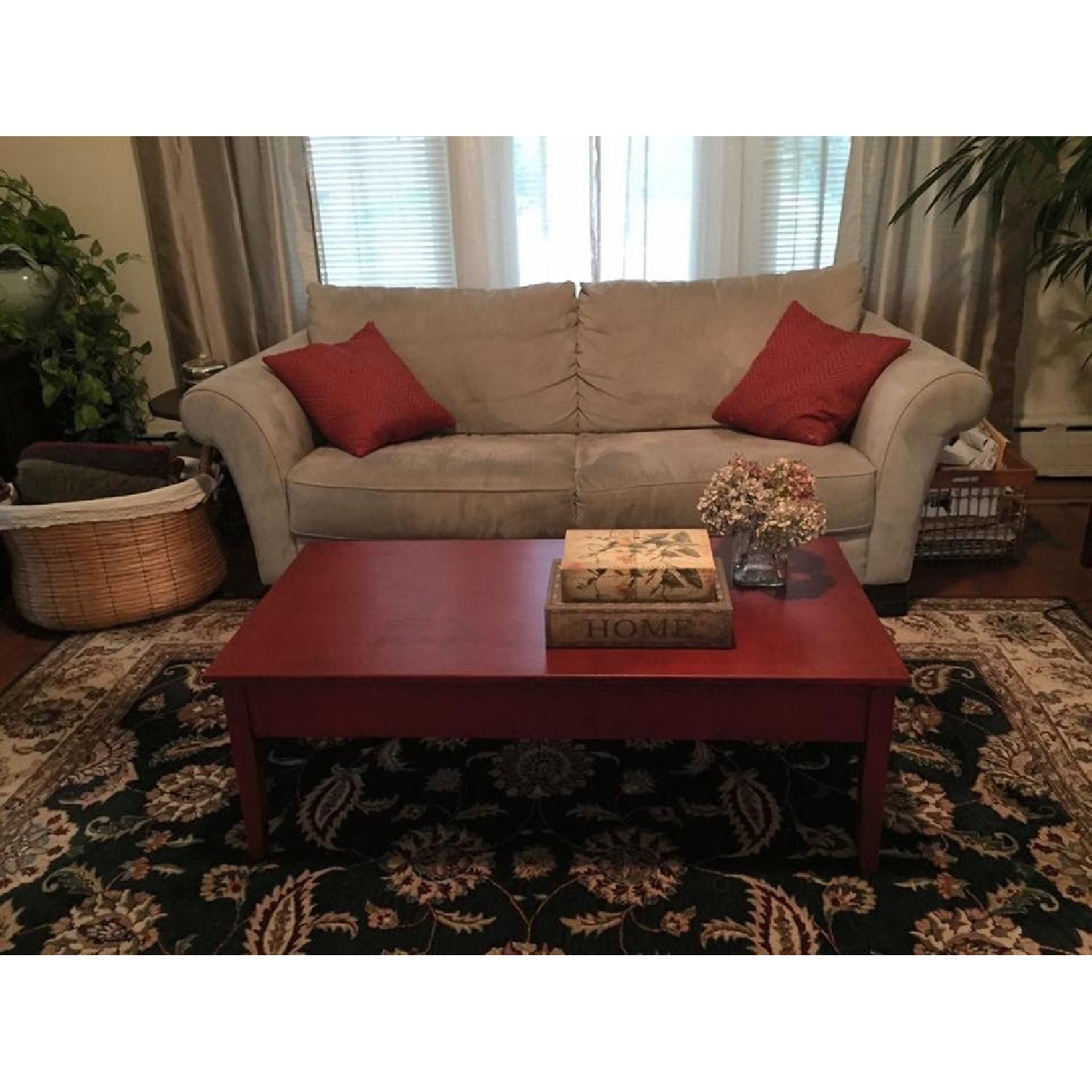 Transitional Painted Coffee Table - image-3
