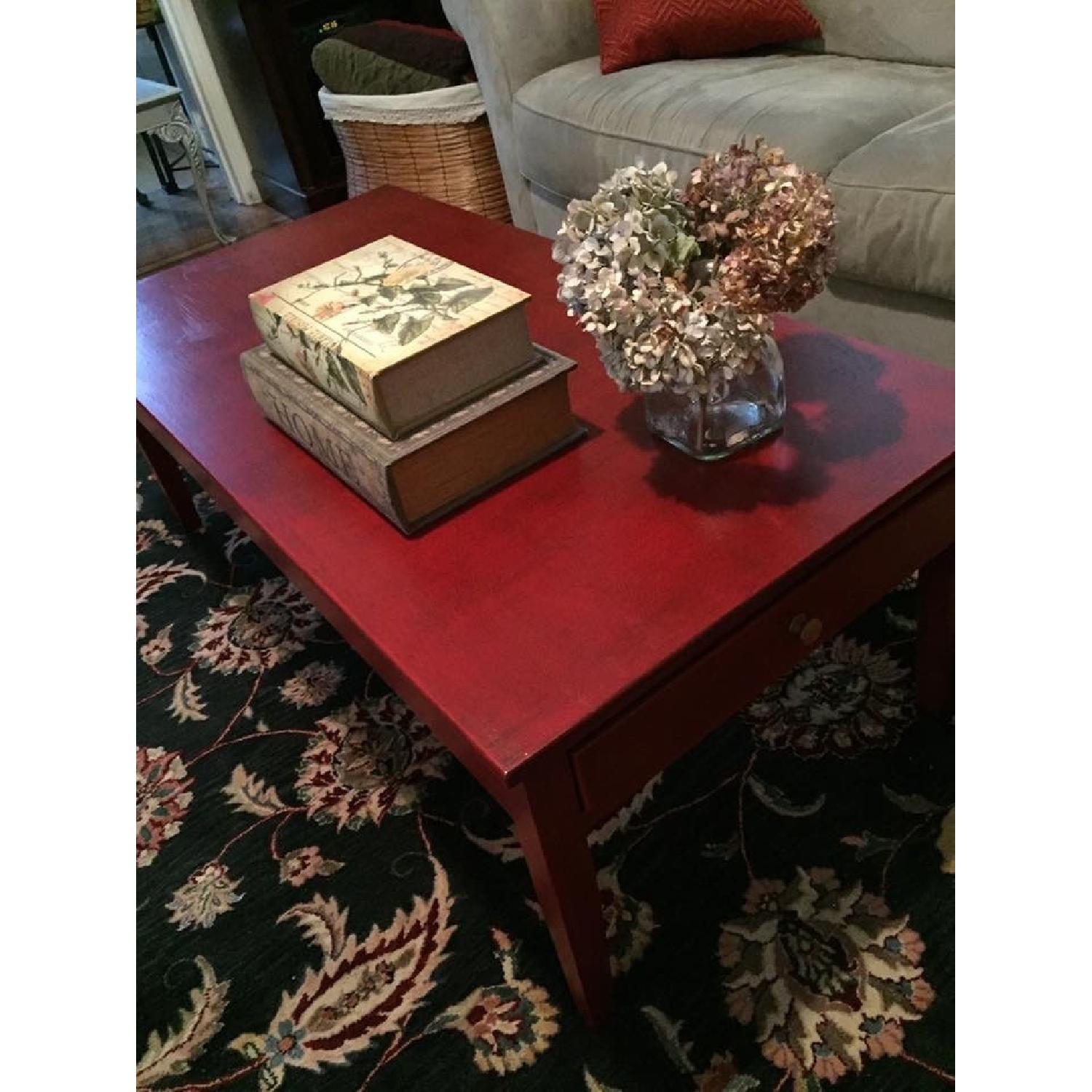 Transitional Painted Coffee Table - image-4