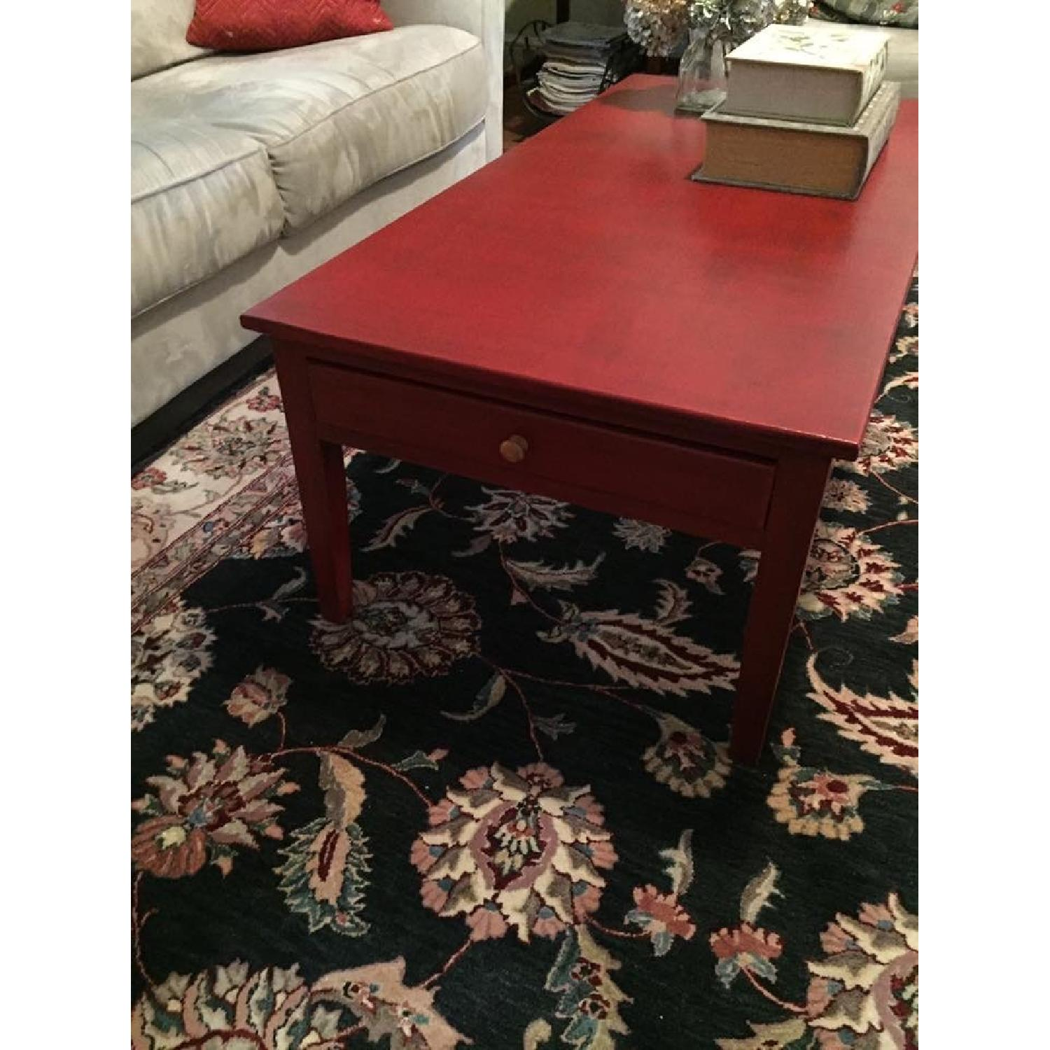 Transitional Painted Coffee Table - image-5