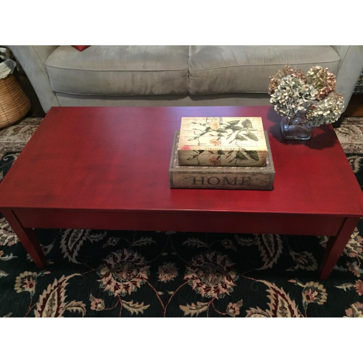 Transitional Painted Coffee Table - image-7
