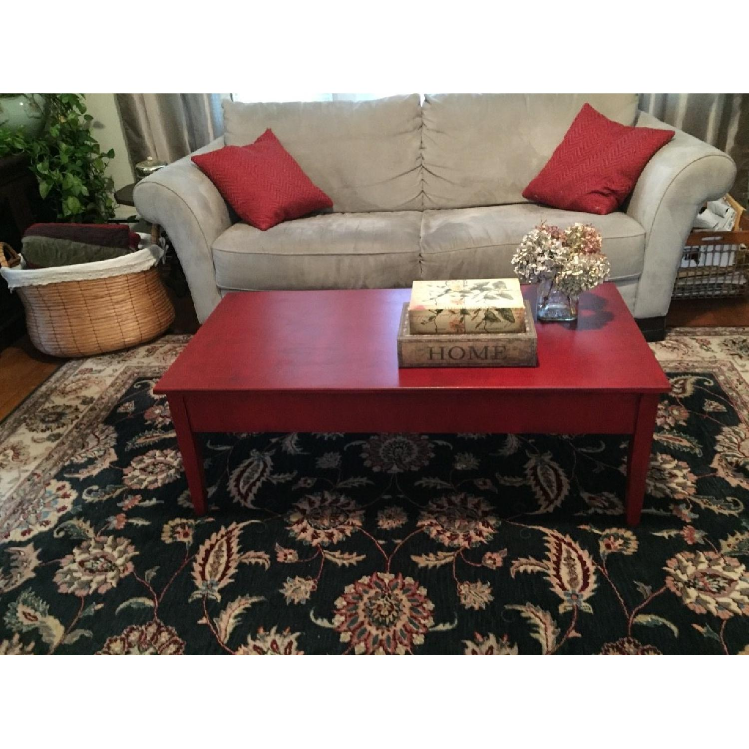 Transitional Painted Coffee Table - image-8