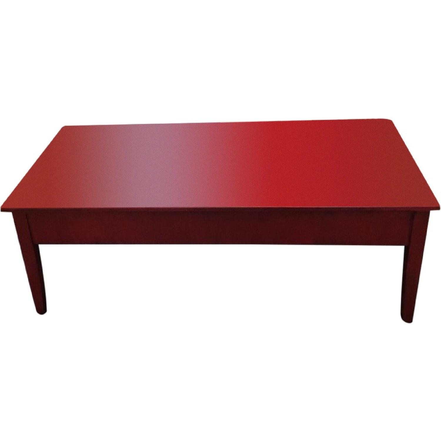 Transitional Painted Coffee Table - image-0