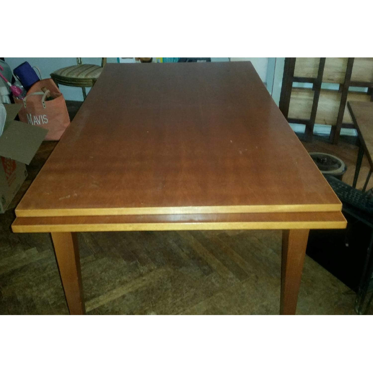 Fruit Wood Draw-Leaf Extension Table - image-1
