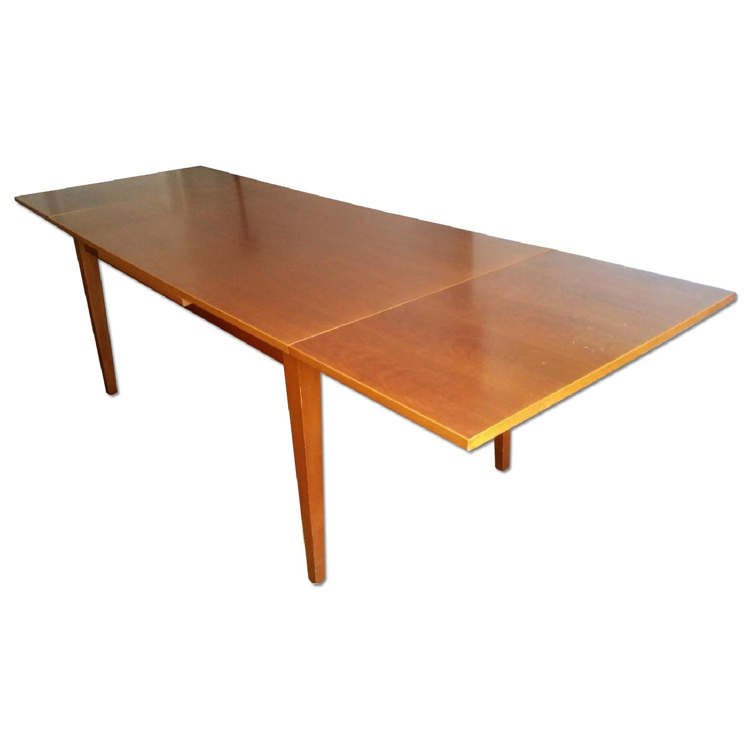 Fruit Wood Draw-Leaf Extension Table - image-0