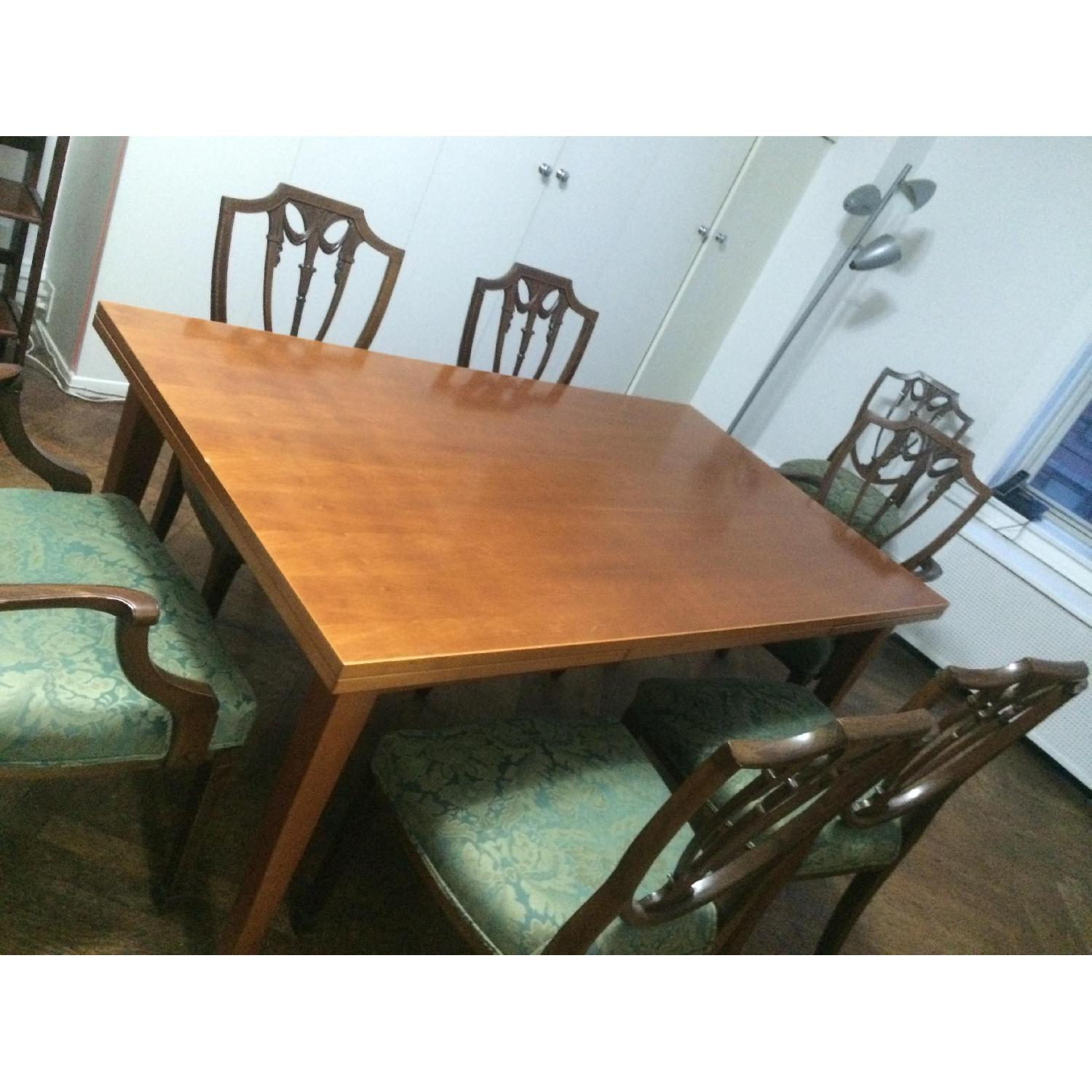 Fruit Wood Draw-Leaf Extension Table - image-3
