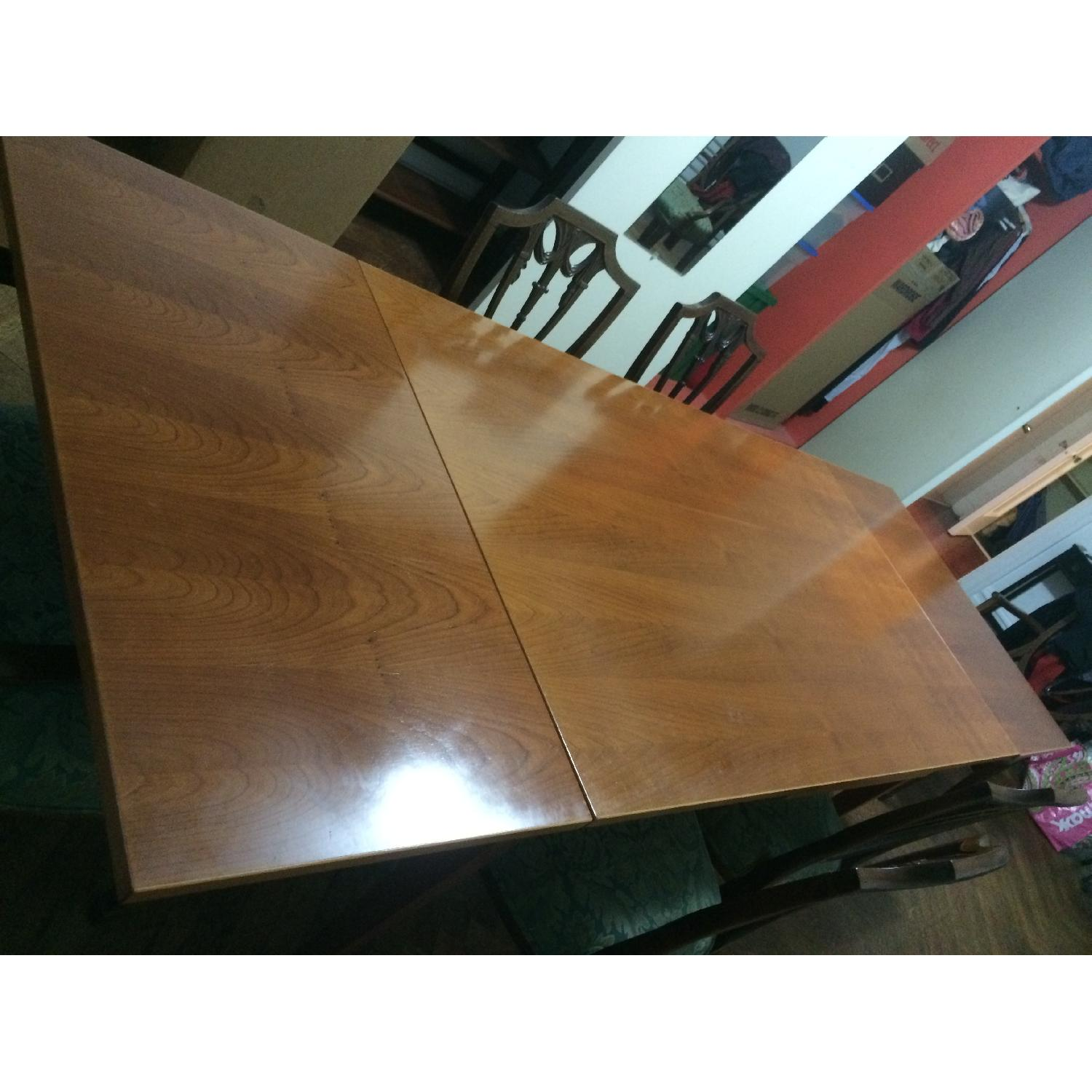 Fruit Wood Draw-Leaf Extension Table - image-5