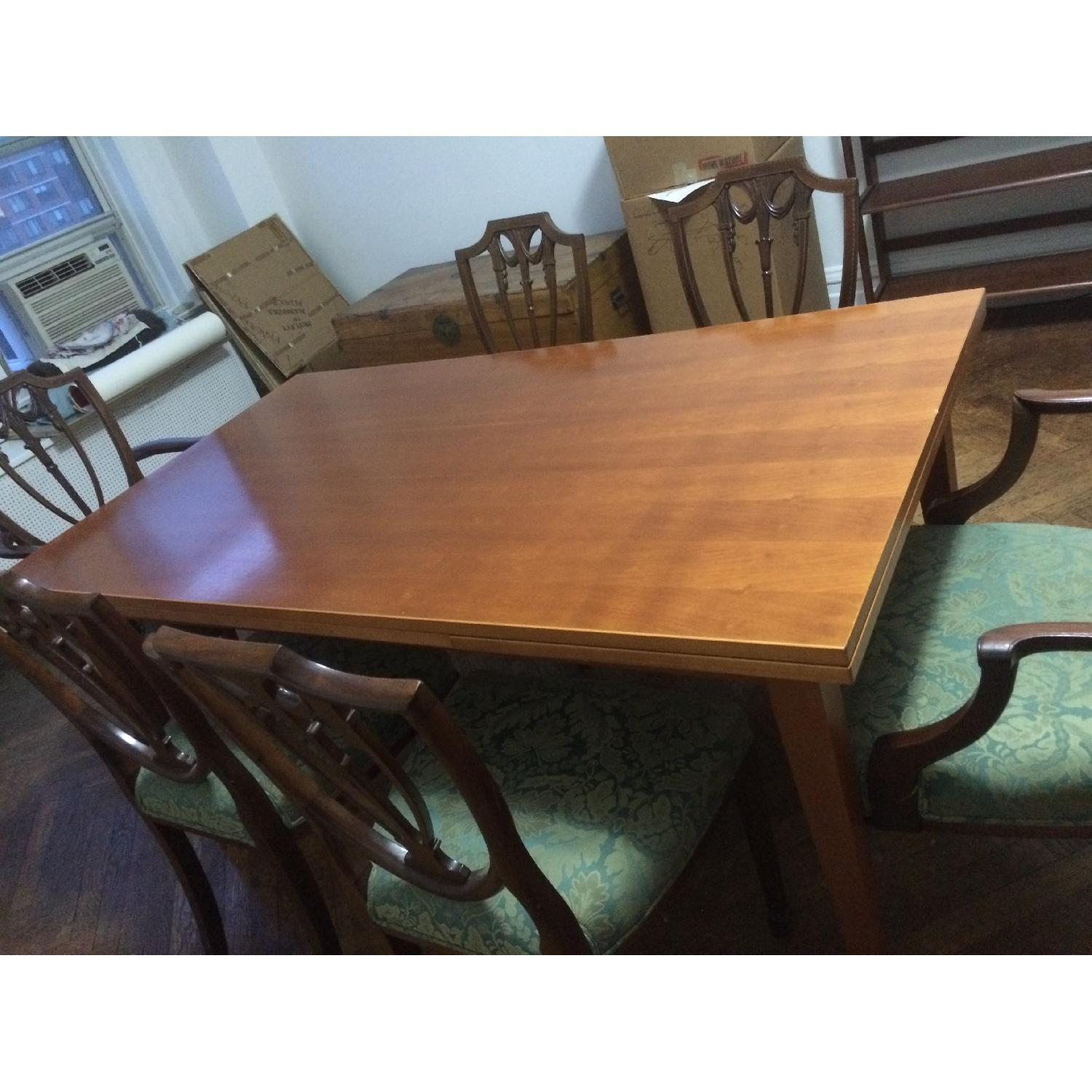 Fruit Wood Draw-Leaf Extension Table - image-9