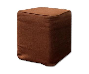 Custom Slipcovered Cube/Ottoman/Stool