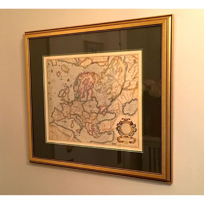 Framed Decorative Maps - Pair - image-1
