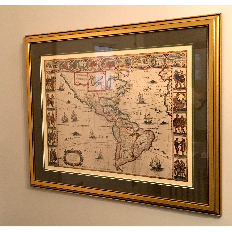 Framed Decorative Maps - Pair - image-2