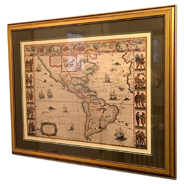 Framed Decorative Maps - Pair - image-0
