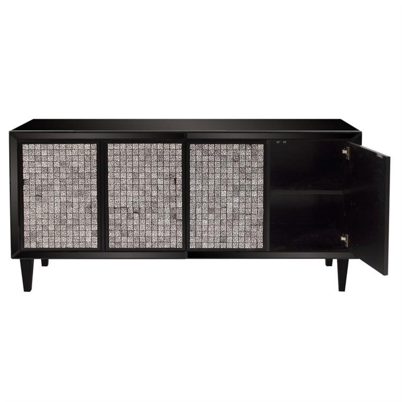 Howard Elliott Glossy Black Cabinet w/ Tile Front - image-0